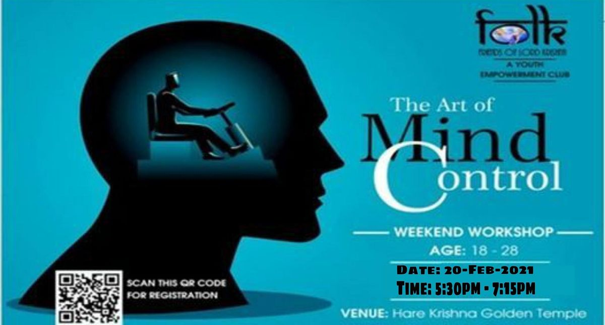 ART OF MIND CONTROL - Free Workshop at ISKCON - Hare Krishna Golden Temple, 16 October   Event in Hyderabad