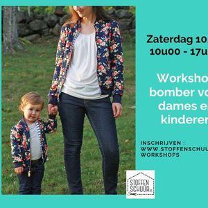 Workshop bomber voor dames en kinderen