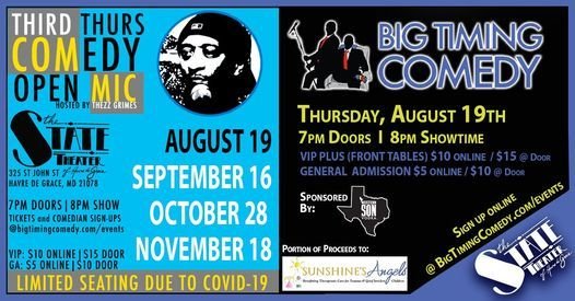 Comedy Open Mic Night - Presented by Big Timing Comedy, 19 August | Event in Havre De Grace | AllEvents.in
