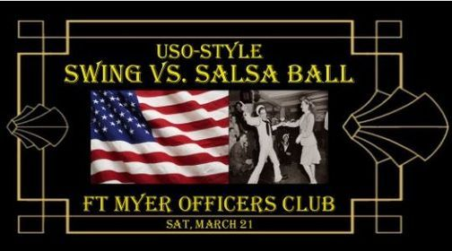 USO Style Salsa vs Swing Ball at Ft. Myers Officers Club, 5 December | Event in Arlington | AllEvents.in