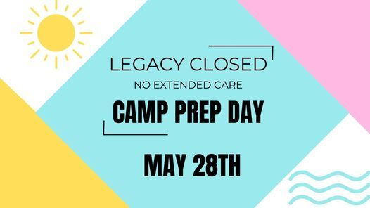 Legacy Closed/ No EC/ Camp Prep Day, 28 May | Event in Waterloo | AllEvents.in