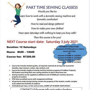 Saturday sewing classess