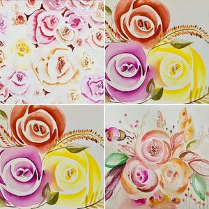 Beginners Watercolour Roses