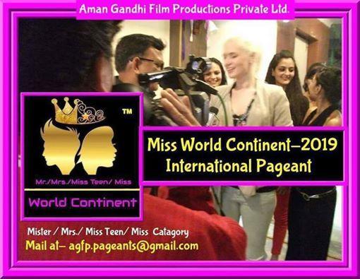 Mr.Mrs. Miss Teen  Miss World Continent-2019