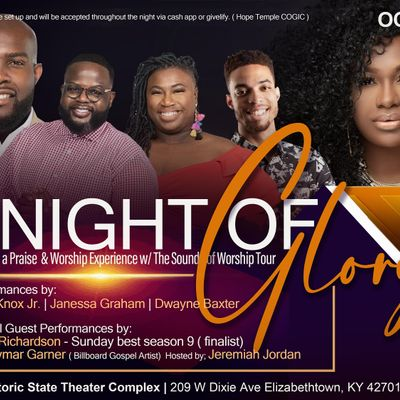 Night of Glory a Praise and Worship Experience with Sounds of Worship tour