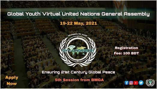 Global Youth Virtual Model United Nations General Assembly 2021, 19 May | Event in Dhaka | AllEvents.in
