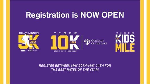 Our Lady of the Lake Tiger 10K, 5 December | Online Event | AllEvents.in