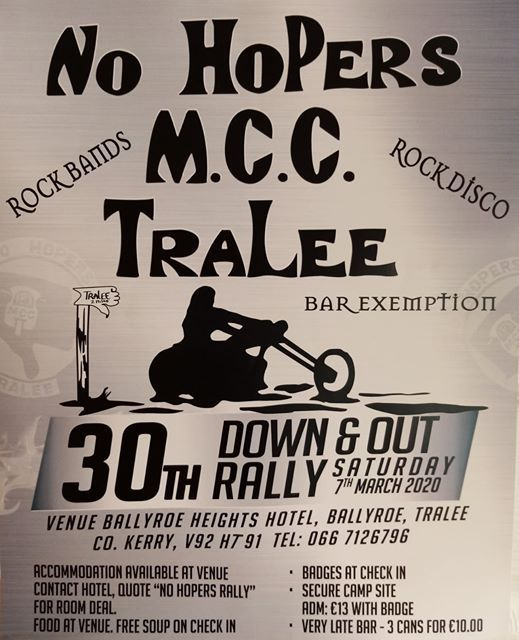 No Hopers MCC 30th Down and Out Rally 2020.