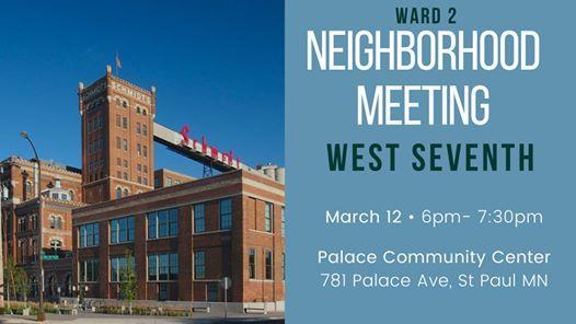 Ward 2 Neighborhood Meeting West Seventh