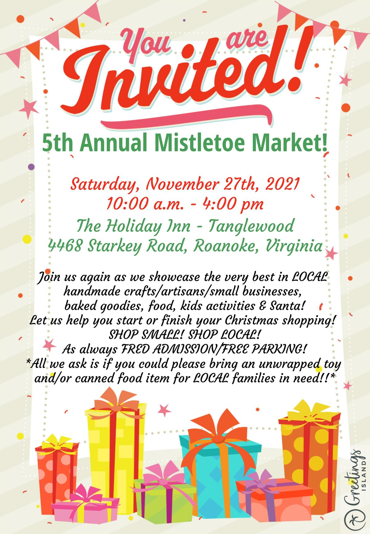 Christmas Markets Virginia 2021 5th Annual Mistletoe Market 4468 Starkey Rd Cave Spring November 27 2021 Allevents In
