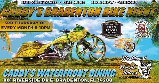 WCFR & Caddys Bradenton Bike Night, 21 January   Event in Bradenton   AllEvents.in