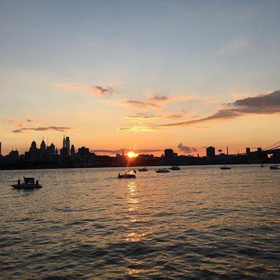 Sunset Community Yoga at Camden Waterfront