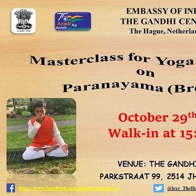 Masterclass for Yoga teachers on Paranayama (Breathing).