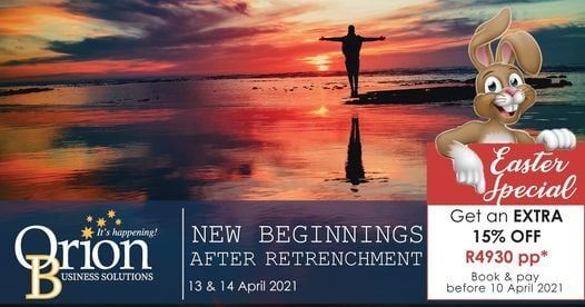 New Beginnings after Retrenchment Workshop, 13 April | Event in Johannesburg | AllEvents.in
