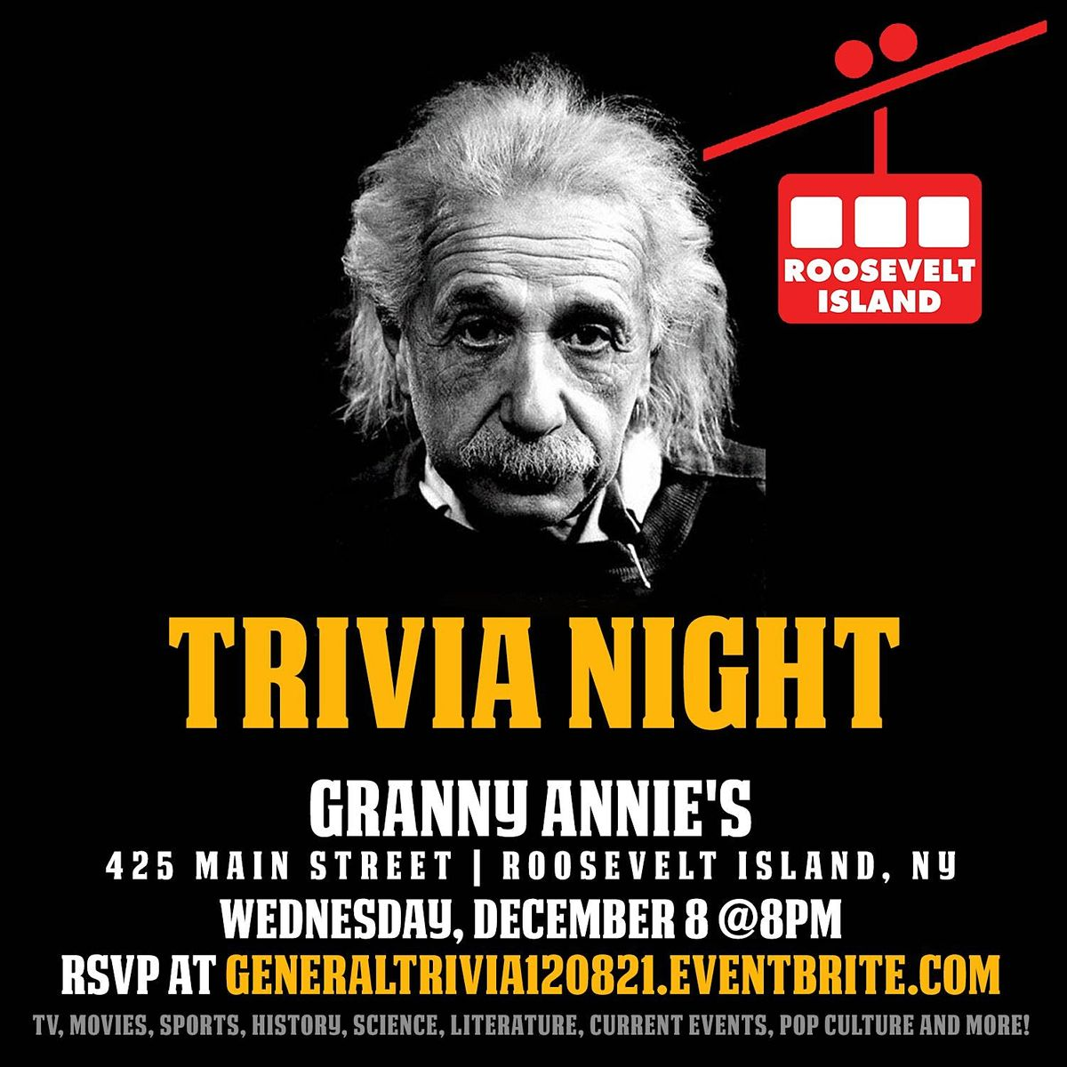 General Trivia Night, 8 December | Event in New York | AllEvents.in