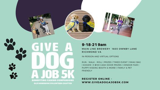 3rd Annual Give a Dog a Job 5K Benefiting Canine Companions | Event in Laurel | AllEvents.in