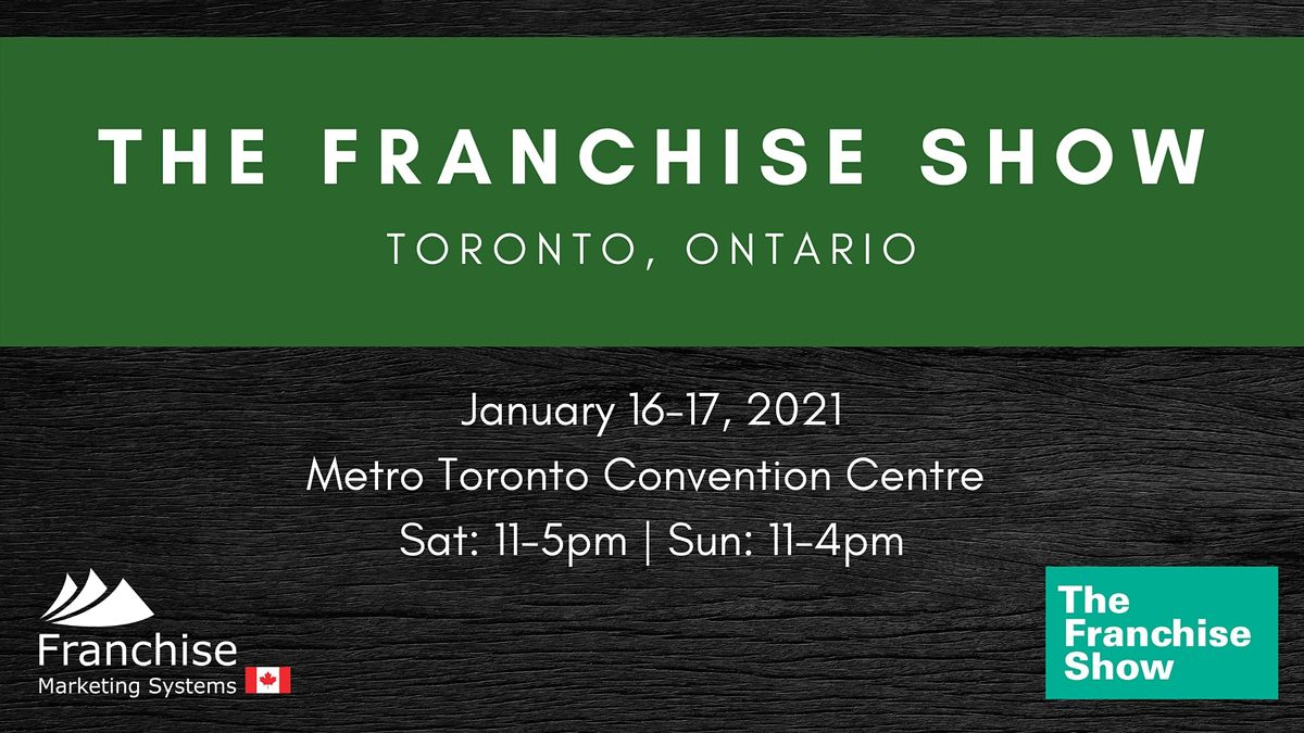 The Franchise Show   Toronto, Ontario, 16 January   Event in Toronto   AllEvents.in