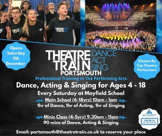 Theatretrain Launch Day! Dance, Acting & Singing for 4-18yrs, 5 December | Event in Portsmouth | AllEvents.in