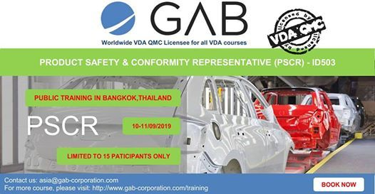 Product Safety & Conformity Representative (PSCR)