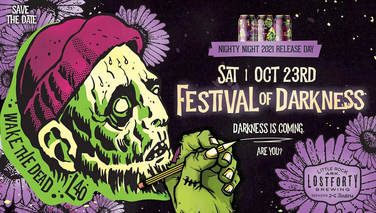 Festival of Darkness 2021: Nighty Night Release Party, 23 October   Event in Little Rock   AllEvents.in