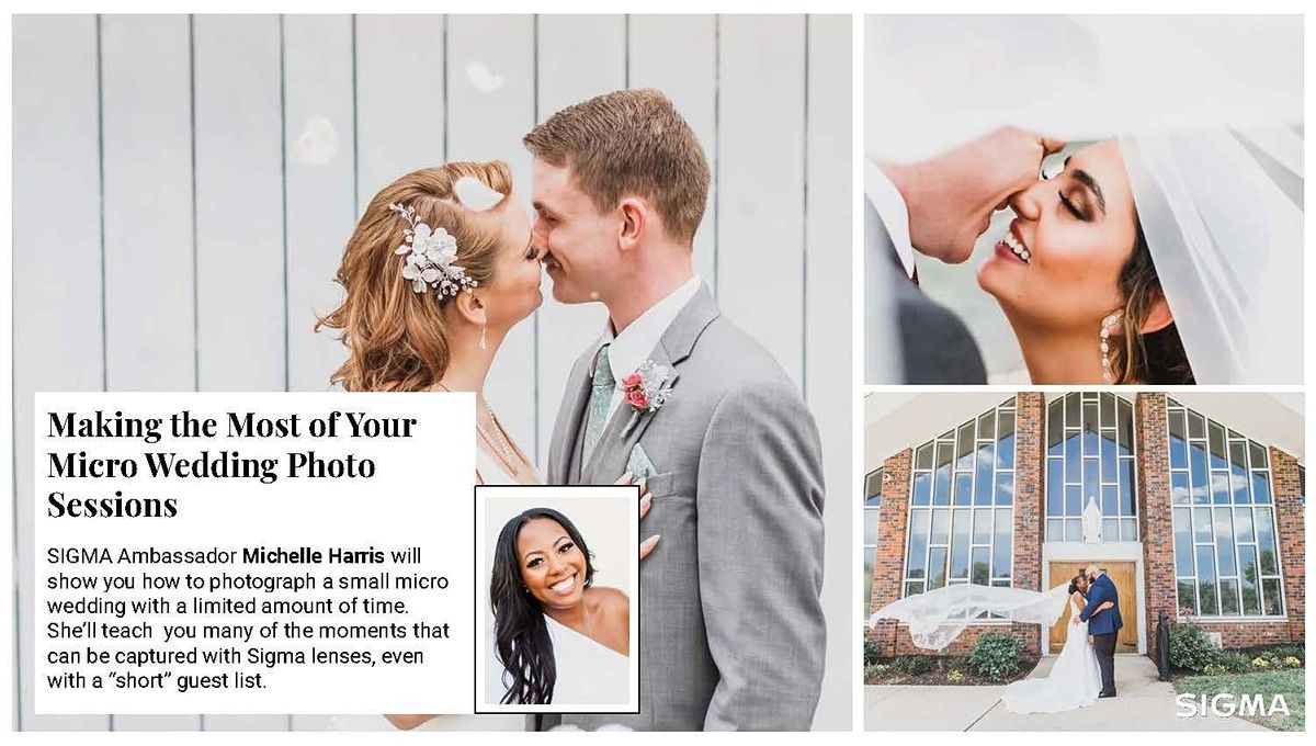 Sigma Ambassador: Making the Most of Your Micro Wedding Photo Sessions, 22 September | Online Event | AllEvents.in