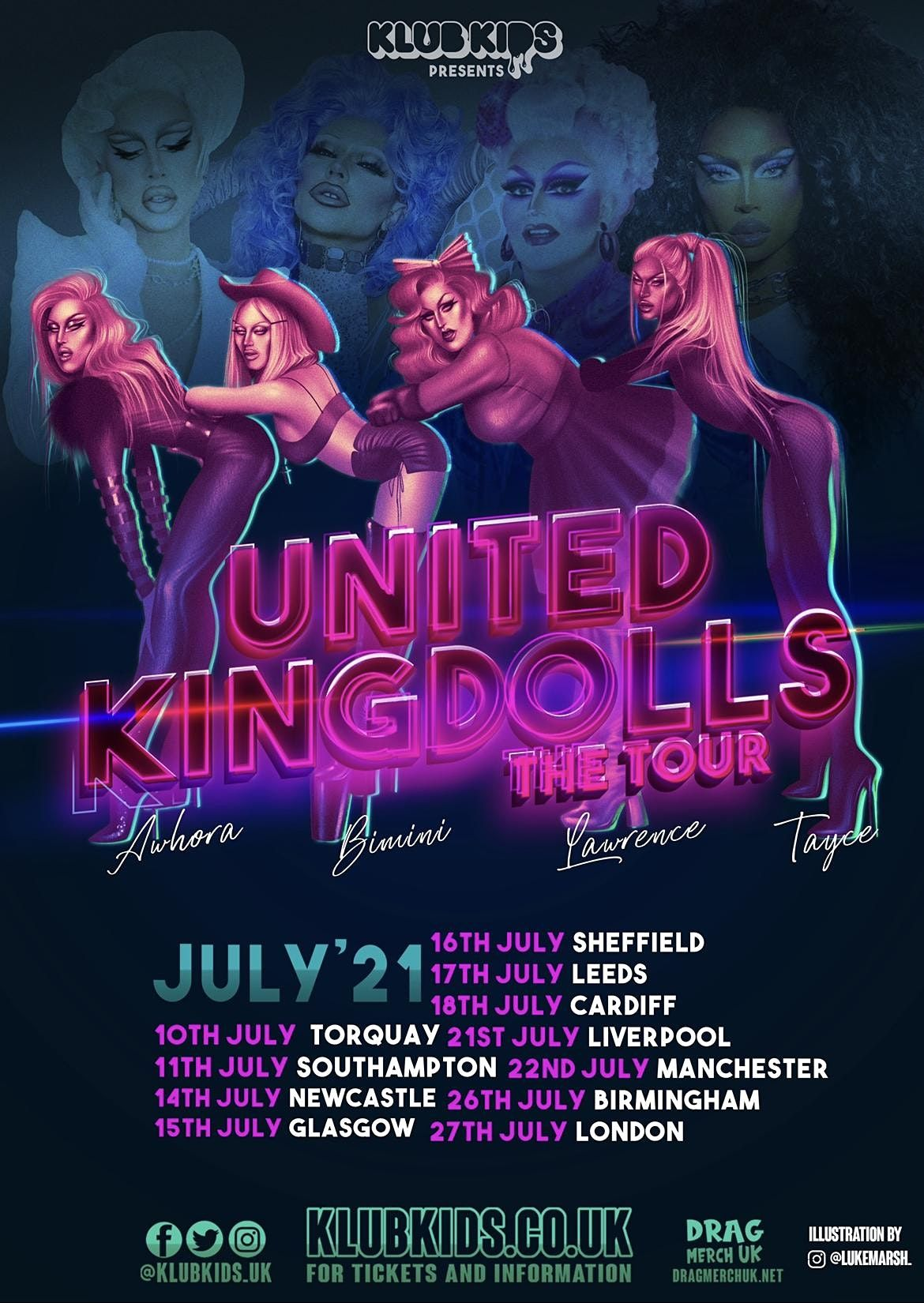 Klub Kids Cardiff Presents: THE UNITED KINGDOLLS The Tour  (Ages 14+), 18 July | Event in Cardiff | AllEvents.in