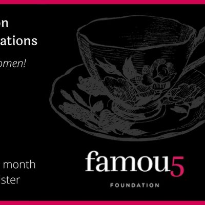 Famous 5 Foundation 2021 Virtual Pink Teas with Inspiring Canadian Women