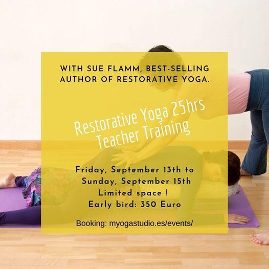 25 Hours Restorative Yoga Teacher Training with Flamm