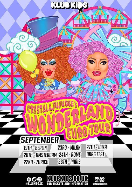 Klub Kids Amsterdam presents CRYSTAL METHYD & JUJUBEE's  Wonderland, 20 September   Event in Amsterdam