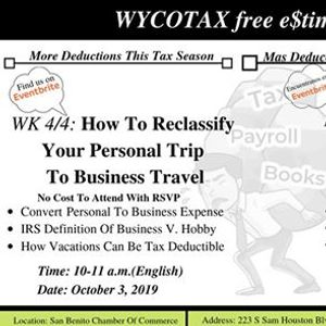 More Deductions this Tax Season Business with Pleasure
