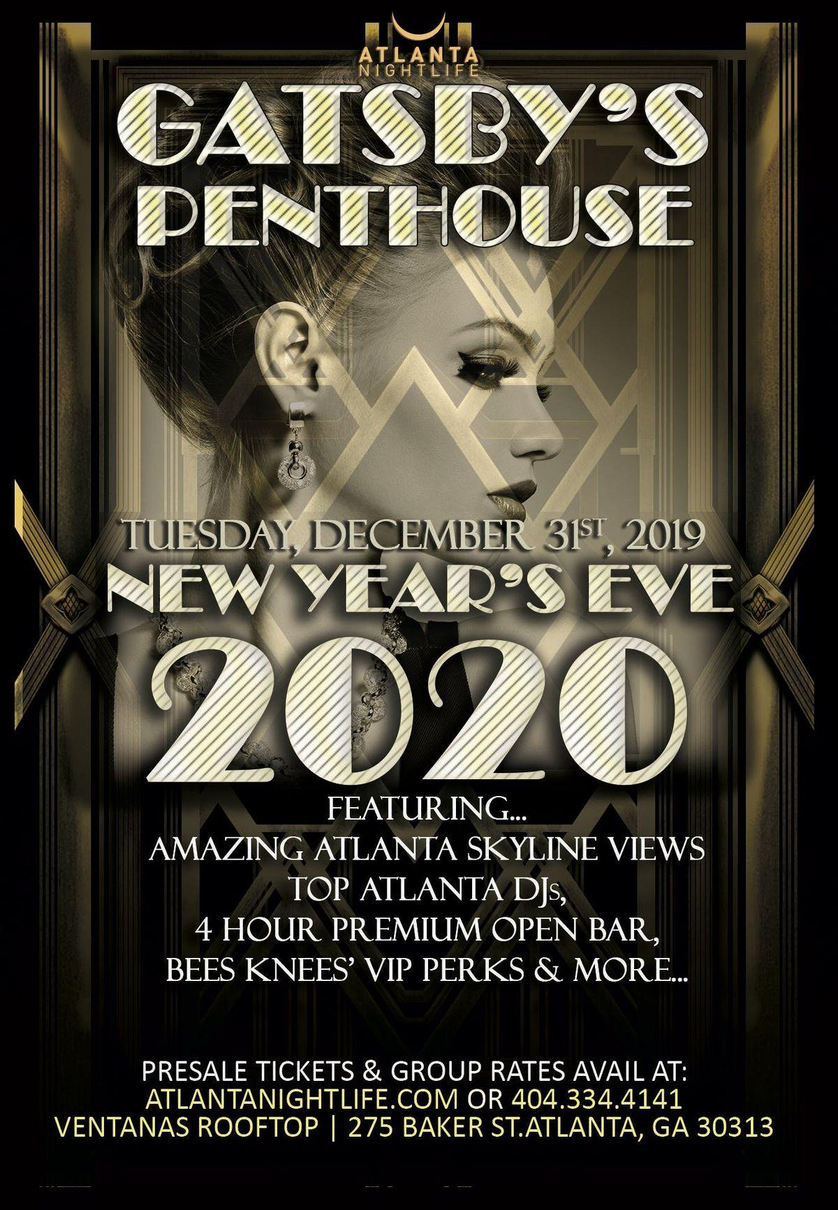 Atlanta New Years Eve 2020 Gatsbys Penthouse   Atlanta New Years 2020 at Ventanas, Atlanta