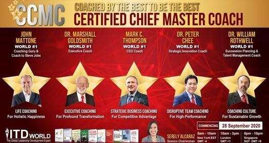 Certified Chief Master Coach (eCCMC), 26 October | Online Event | AllEvents.in