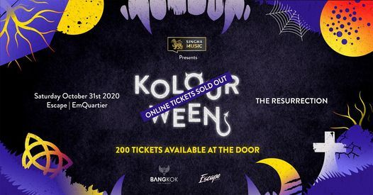 Kolour Halloween 2020: The Resurrection, 31 October | Event in Bangkok | AllEvents.in