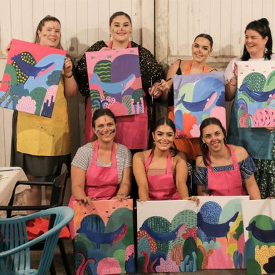 Wasted Paint February  Sunday Paint & Sip