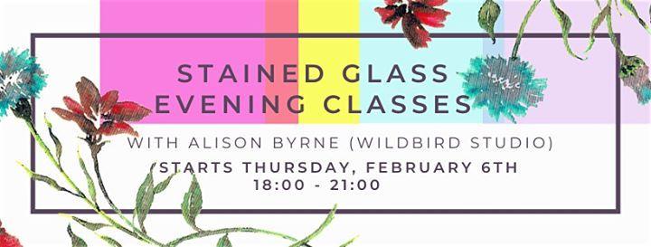 Stained Glass Evening Classes w WildBird Studio  BLOCK T