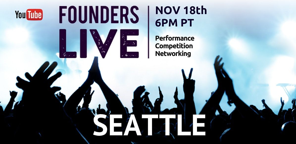 Founders Live Seattle Virtual Experience, 18 November   Online Event   AllEvents.in
