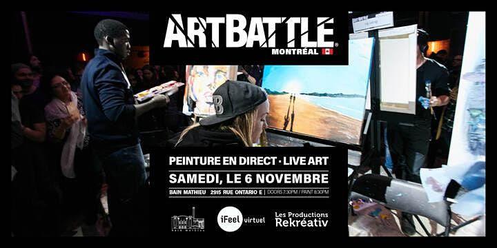 Art Battle Montréal -  6 Novembre, 2021, 6 November   Event in Montréal   AllEvents.in