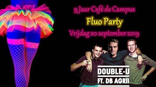 FLUO PARTY - 9 jaar Cafe de Campus