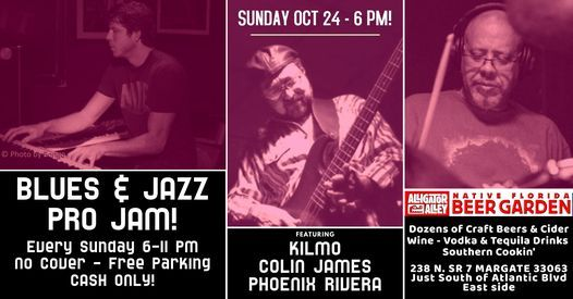 Sunday PRO BLUES & JAZZ JAM at Alligator Alley! | Event in Margate | AllEvents.in
