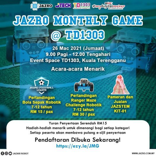 JAZRO MONTHLY GAMES, 26 June   Event in Kota Bharu   AllEvents.in