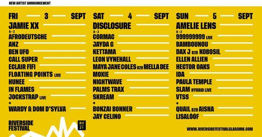 Riverside Festival 2021, 3 September | Event in Glasgow | AllEvents.in