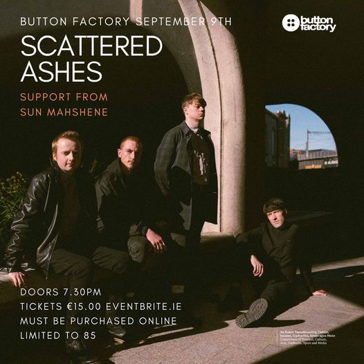 Scattered Ashes / Button Factory, 9 September | Event in Dublin | AllEvents.in
