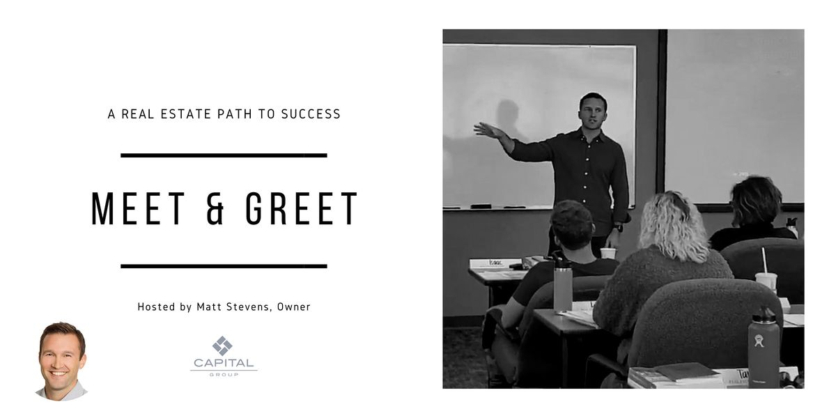 Meet & Greet A Real Estate Path to Success [Sales Professionals]