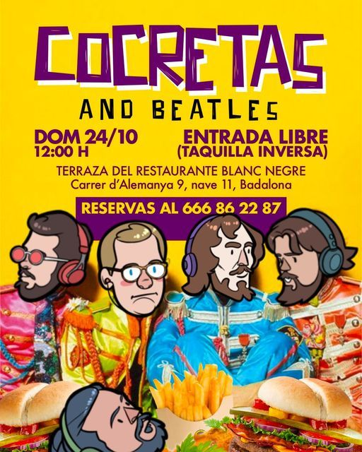 Cocretas and Beatles, 24 October | Event in Badalona | AllEvents.in