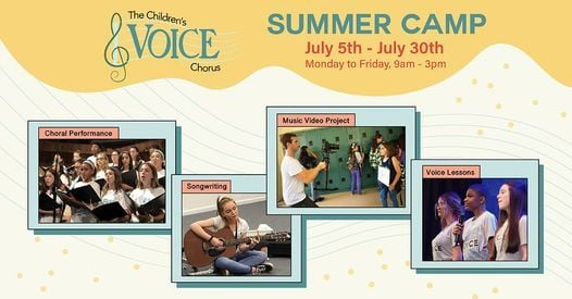 The Children's Voice Summer Camp: Making the Music Video!, 5 July | Event in Cutler | AllEvents.in