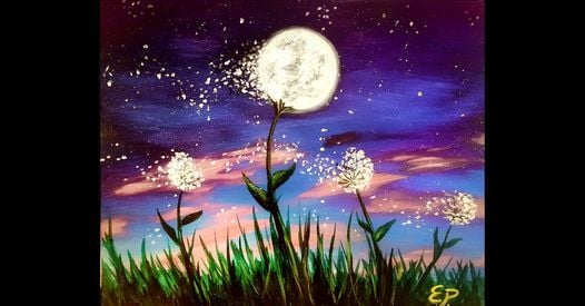 Dandelions in the Wind Painting at Wine & Canvas Paint & Sip, 29 January | Event in Henderson | AllEvents.in
