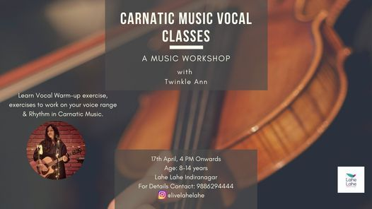 Carnatic Music Vocal Classes, 8 May   Event in Dharmapuri   AllEvents.in