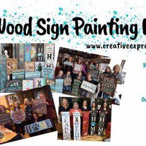Des Moines IA - Wood Sign Painting Workshop at Saints Pub