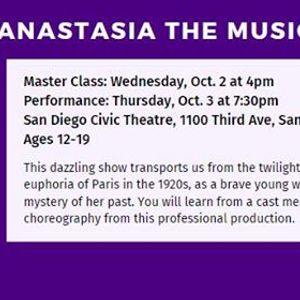 Anastasia Master Class with Broadway San Diego