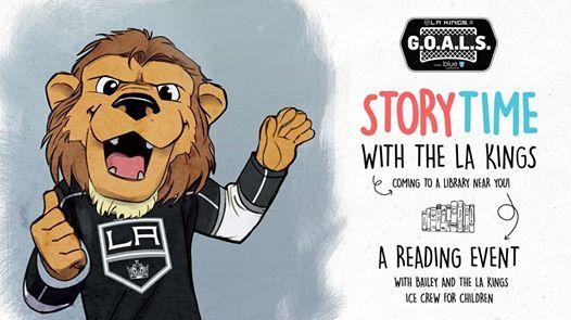 Storytime with the LA Kings at La Puente Library, La Puente